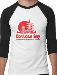 Funny Shirt - Confucius Say Men's Baseball ¾ T-Shirt