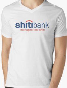 Funny Shirt - Shiti Bank Mens V-Neck T-Shirt