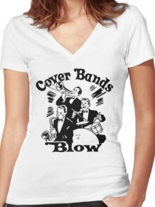 Funny Shirt - Cover Bands Women's Fitted V-Neck T-Shirt