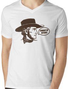 Funny Shirt - Cowboy Up Mens V-Neck T-Shirt