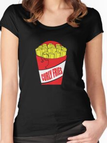 Funny Shirt - Curly Fries Women's Fitted Scoop T-Shirt