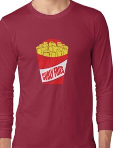 Funny Shirt - Curly Fries Long Sleeve T-Shirt