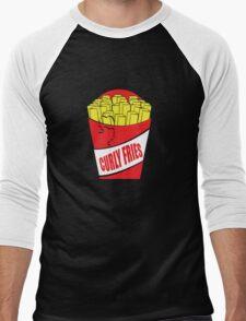 Funny Shirt - Curly Fries Men's Baseball ¾ T-Shirt