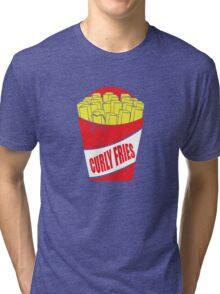 Funny Shirt - Curly Fries Tri-blend T-Shirt