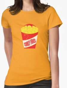 Funny Shirt - Curly Fries Womens Fitted T-Shirt