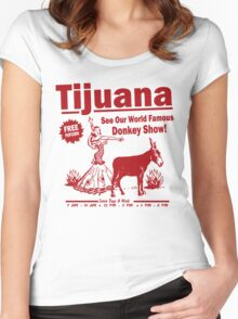 Funny Shirt - Tijuana Donkey Show Women's Fitted Scoop T-Shirt