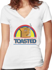 Funny Shirt - Toasted Women's Fitted V-Neck T-Shirt