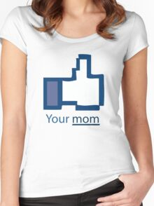 Funny Shirt - Facebook Women's Fitted Scoop T-Shirt