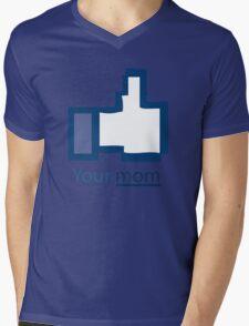 Funny Shirt - Facebook Mens V-Neck T-Shirt