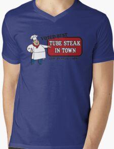 Funny Shirt - Tube Steak  Mens V-Neck T-Shirt
