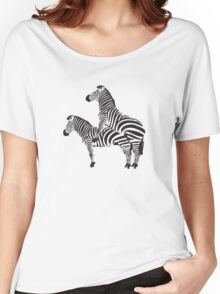 Funny Shirt - Two Headed Zebra Women's Relaxed Fit T-Shirt