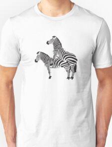 Funny Shirt - Two Headed Zebra Unisex T-Shirt
