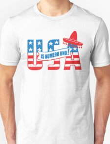 Funny Shirt - USA Is Numero Uno Funny Unisex T-Shirt