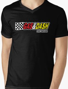 Funny Shirt - Gas and Dash Mens V-Neck T-Shirt