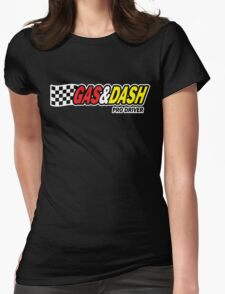 Funny Shirt - Gas and Dash Womens Fitted T-Shirt