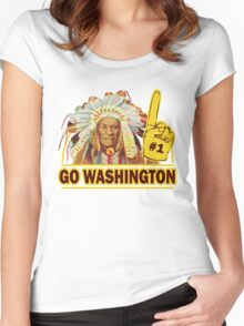 Funny Shirt - Go Washington Women's Fitted Scoop T-Shirt