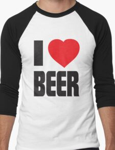 Funny Shirt - I Love Beer Men's Baseball ¾ T-Shirt