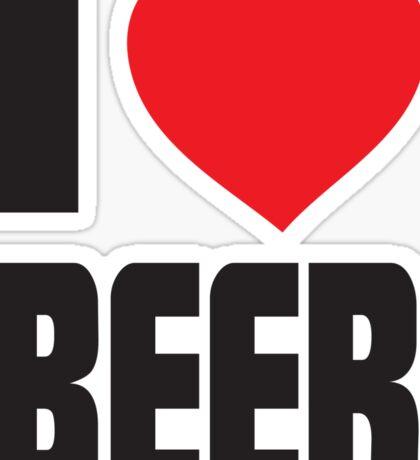 Funny Shirt - I Love Beer Sticker