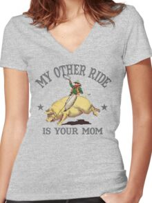 Funny Shirt - My Other Ride Women's Fitted V-Neck T-Shirt