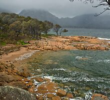 Rainstorm over Coles Bay by Roger Neal