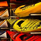 Colorful Kayaks by Rae Tucker