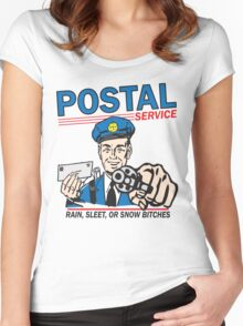 Funny Shirt - Postal Women's Fitted Scoop T-Shirt