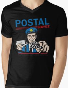 Funny Shirt - Postal Mens V-Neck T-Shirt