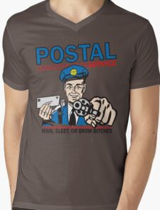 Funny Shirt - Postal Mens V-Neck T-Shirt