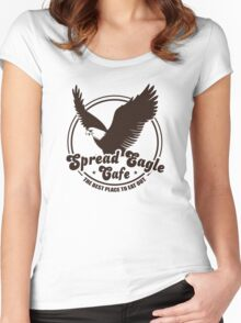 Funny Shirt - Spread Eagle Cafe Women's Fitted Scoop T-Shirt
