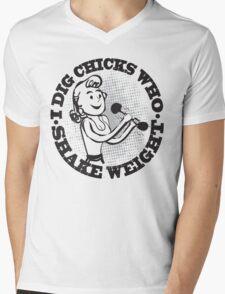 Funny Shirt - Shake Weight Mens V-Neck T-Shirt