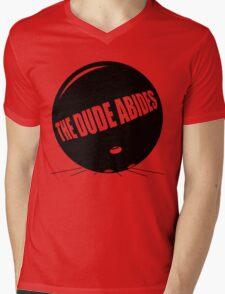 Funny Shirt - The Dude Abides Mens V-Neck T-Shirt