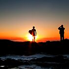 The Sun Worshippers - Currumbin Beach Qld by Beth  Wode