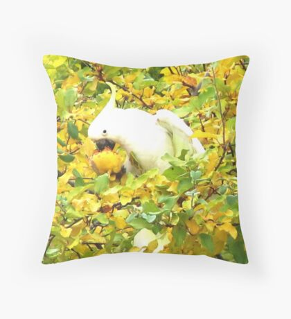 Sulphur-Crested Cockatoo Throw Pillow