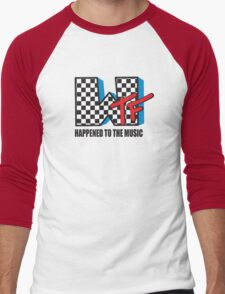 WTF Funny Music Shirt Men's Baseball ¾ T-Shirt