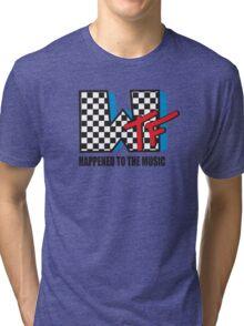 WTF Funny Music Shirt Tri-blend T-Shirt