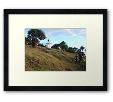 Pathway to a Swell Paradise Framed Print