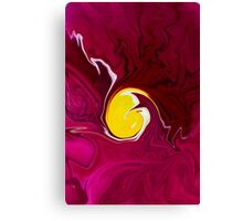 Pink Pansy Abstract  Canvas Print