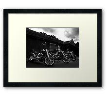 Bikers' Break Framed Print