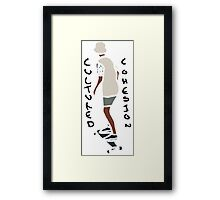 Abstract Skateboard Rider Framed Print