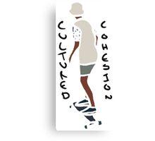 Abstract Skateboard Rider Canvas Print