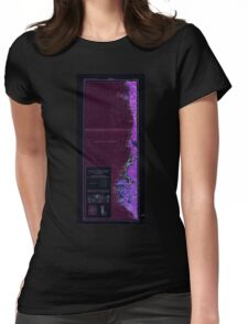 USGS Topo Map California Eureka 299767 1961 250000 Inverted Womens Fitted T-Shirt