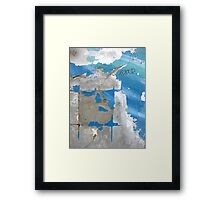 an easel to paint the ocean Framed Print