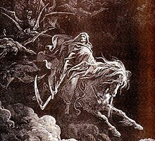 DEATH, Death on the Pale Horse, Gustave Doré, (1865), Revelations, Seven Seals by TOM HILL - Designer