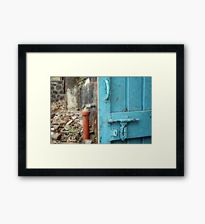 Back Door to the Kitchen Framed Print