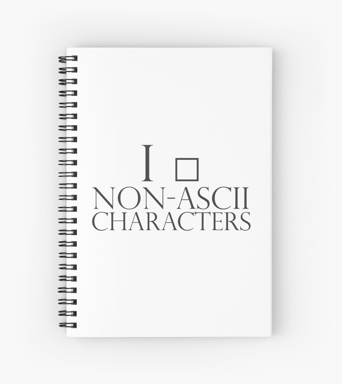 One Line Ascii Art Metal : Quot i love non ascii characters spiral notebooks by giovybus