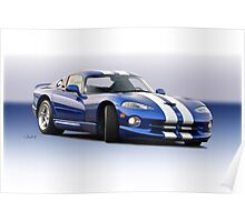 1995 Dodge Viper GTS VS1 Poster
