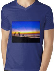 GEORGIA SUNRISE Mens V-Neck T-Shirt