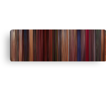 Moviebarcode: Fear and Loathing in Las Vegas (1998) Canvas Print