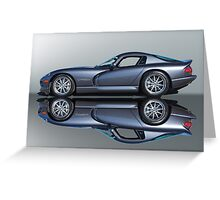 2000 Dodge Viper GTS VS4 'Mirror Image' Greeting Card