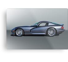 2000 Dodge Viper GTS VS3 'Profile' Metal Print